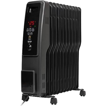 iimono117 オイルヒーター 高性能 11枚フィン 8~10畳 (つや消しブラック) パネル ヒーター 500W 700W 1200W デジタル表示 S型フィン 暖房 電気ストーブ