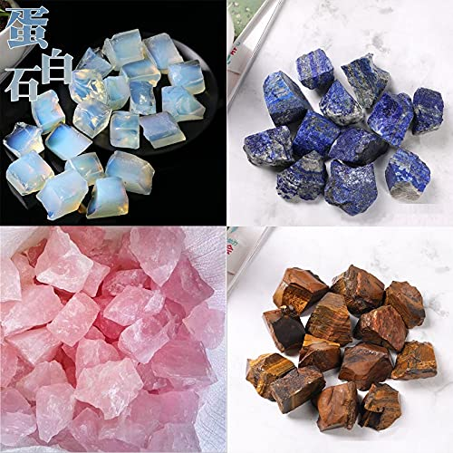 LVYAN Piedra de Ojo de Tigre de Cristal de Cuarzo Rosa Natural, Piedras de ópalo en Bruto, muestras de minerales, decoración del hogar, Piedra de Cristal, lapislázuli