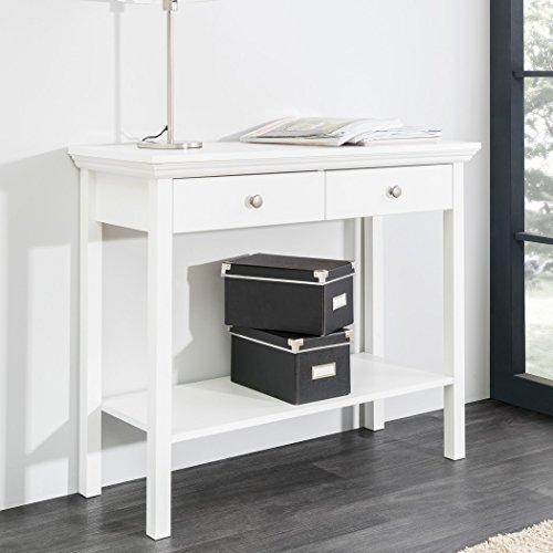 expendio Konsole Landström 44 weiß 90x75x35 cm Konsolentisch Garderobe Schlafzimmer Flur Diele Landhausmöbel