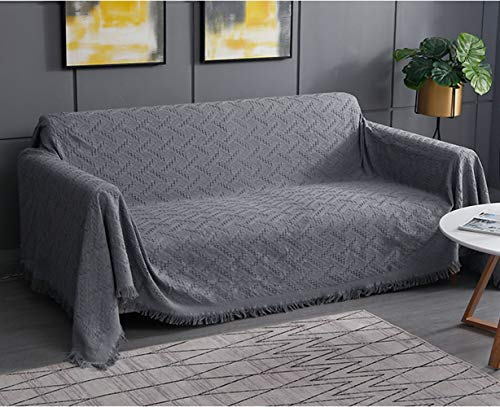 RHF Geometrical Sofa Cover, Couch Cover, Couch Covers for 3 Cushion Couch, Sectional Couch Covers, Sofa Covers for Living Room, Couch Covers for Dogs, Couch Protector(X-Large:Dark Grey)