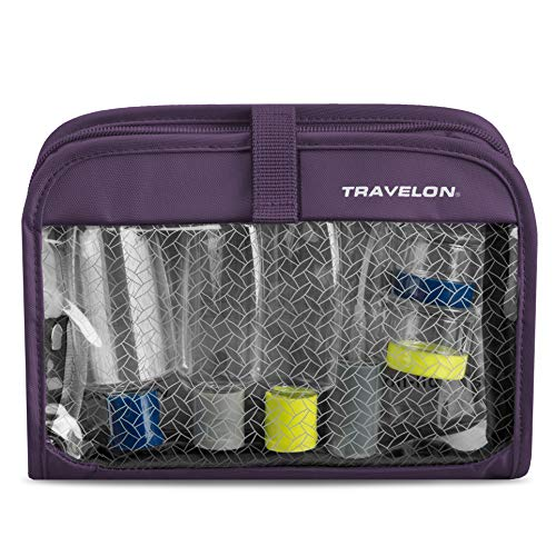 Travelon Wet/Dry 1 Quart Bag with Bottles, Purple, One Size