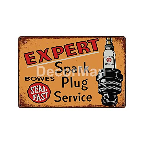 ycsqy Poster metallic schilderij vintage olie motor bougie wanddecoratie bar decoratie 20*30cm Glc-14157