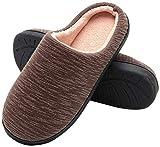 Zapatillas de Casa de Hombre - Zapatillas Casa Ultraligero Cómodo y Antideslizante Invierno, Zapatilla de Estar por Casa para Hombre Fluff Antideslizantes (Marrón, EU44/45)