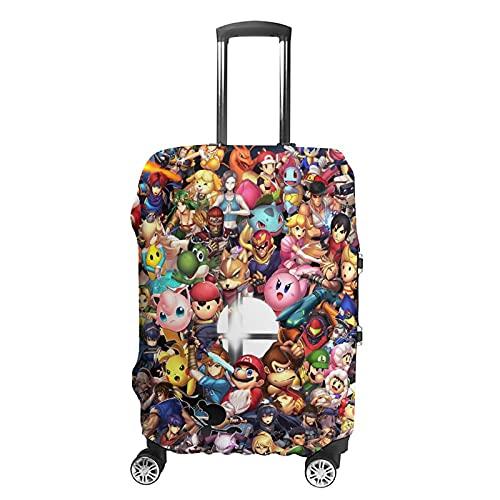 Mario Pikachu Legend - Funda de equipaje lavable Zelda con diseño de dibujos animados, para ir a la escuela, viajar, etc., Blanco, estilo 1, L,