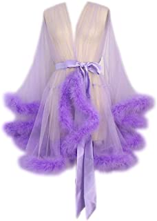 Best purple feather robe Reviews