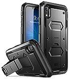 i-Blason Funda para iPhone XR [Armorbox] Carcasa Case Cuerpo Completo Protección Resistente Protector de Pantalla Integrado,Negro