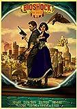 wslgfgk Juego De Disparos Clásico, Póster Retro, Decoración Artística para El Hogar, Lienzo Sin Marco, Mural T1501 50X70Cm