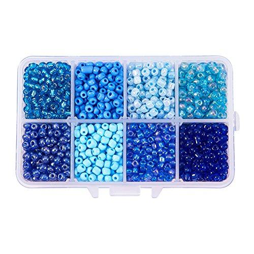 4 mm 50 g Verre Seed Perles-Deep Blue Rainbow-env Taille 6//0
