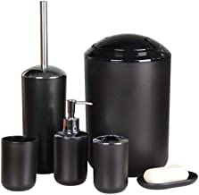 IMAVO Bathroom Accessories Set, 6 Pcs Plastic Toothbrush Holder,Toothbrush Cup,Soap Dispenser,Soap Dish,Toilet Brush Holde...
