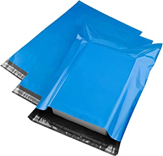 Metronic 100 Pack 12x15.5 Blue Poly Mailer Envelopes Shipping Bags with Self Adhesive, Waterproof and Tear-Proof Postal Bags