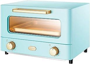 horno electrico de sobremesa Horno doméstico Pequeño pan multifuncional Hornear 12L Capacidad compacta Temperatura de vidrio templado visual Temperatura y tiempo de doble control de la cocina Herramie