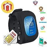 Reloj para Niños GPS Rastreador niños reloj de pulsera teléfono SIM anti-lost SOS pulsera...