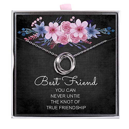 ALoveSoul Best Friend Necklace - 925 Sterling Silver Friendship Knot...