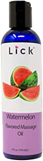 Watermelon Flavored Massage Oil for Couples – Edible Massaging Lotion with Vitamin E, Sweet Almond and Coconut Oil is Non ...