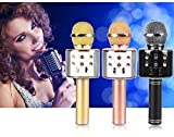 Lincoln Wireless Bluetooth Microphone Recording Condenser Handheld Microphone with Bluetooth Speaker Audio Recording
