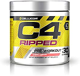 Cellucor C4 Ripped Pre Workout Powder Cherry Limeade   Creatine Free + Sugar Free Preworkout Energy