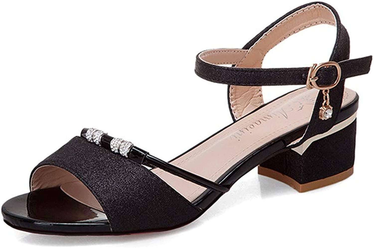 Summer Sandals Women's Breathable High Heel shoes (color   A, Size   7.0 US)