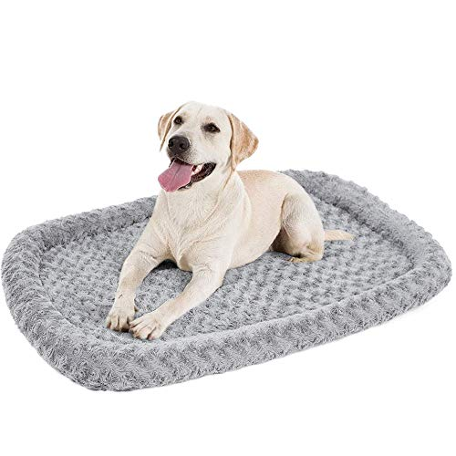 IPARTS EXPERT Plush Pet Bed Washable Calming Dog Bed Fluffy Pets Bed Mattress for Large Dogs Rectangular Cat Mat Cushion Crates,90cm*60cm