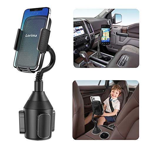 Lorima Car Cup Holder Phone Mount with A Long Flexible Neck for Cell Phones iPhone 11 Pro...