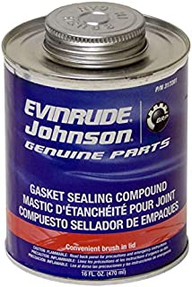 Evinrude 317201 Gasket Sealing Compound 16 oz. Brush Top Can