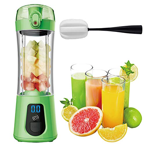 Smoothie blender, multifunctionele 25000 rpm usb oplaadbare glazen blender, smoothie maker blender voor smoothie, sapcentrifuge, kruiden, 120w,Green