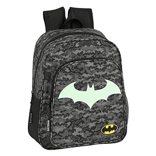 Batman Rucksack für Jungen, Schultasche für Kinder, Reisetasche für Kinder, Fluoreszierendes Im Dunkeln Leuchten, Mittlerer Rucksack, Geschenk für Jungen!