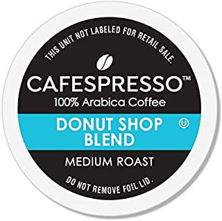 CAFESPRESSO Donut Shop Blend for K Cup Keurig 2.0 Brewers, 42Count, Medium Roast Single Serve Coffee Pods, 42Count (Packag...