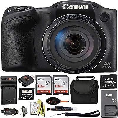 Canon PowerShot SX420 Digital Camera w/42x Optical Zoom - Wi-Fi & NFC Enabled (Black) ZeeTech Bundle by Canon (ZT)