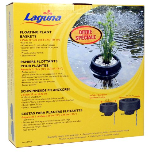 Laguna Pflanzschale schwimmend, 2er Set, Durchmesser 25 und 35cm, Schwarz