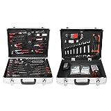 Caja de herramientas, 500 piezas, maletín de aluminio con pinza, llave, destornillador de cruz, destornillador plano, etc., para uso doméstico para reparaciones