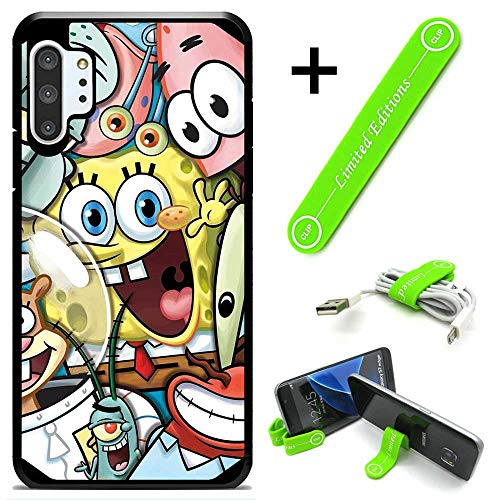 Hybrid Rugged Hard Cover Case Compatible with Galaxy Note 10 - Spongebob Friends (with Free Phone Stand Gift!)