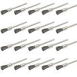 JINTONG ルーター ブラシ ステンレスワイヤー 筆型 2.35mm軸20個 リューター ビット 回転ツール アクセサリー