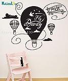 Hermosa calcomanías de pared Fly Away Transporte Wallpaper etiqueta engomada...