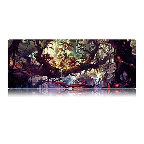 SFBBBO Mouse mat Extra Large Gaming Mouse Pad Natural Rubber Computer Gamer Mouse Mat 800x300mm and 900x400mm Size 400-900-2mm 08