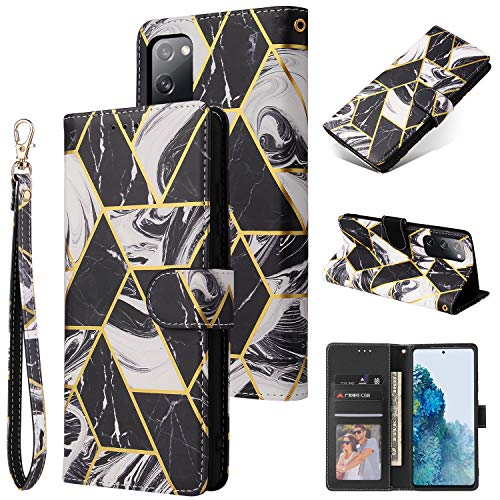 Price comparison product image Shinyzone Flip Case for Samsung Galaxy S20 FE PU Leather Case with Card Holder, Samsung Galaxy S20 FE Wallet Case for Men Women with Wrist Strap Magnetic Clasp