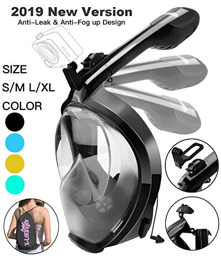 Full Face Snorkel Mask, 2018 New Foldable...