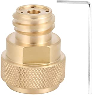Fdit 2 Colors Brass CO2 Adapter Replace Tank Canister Conversion for Soda Stream(Gold)