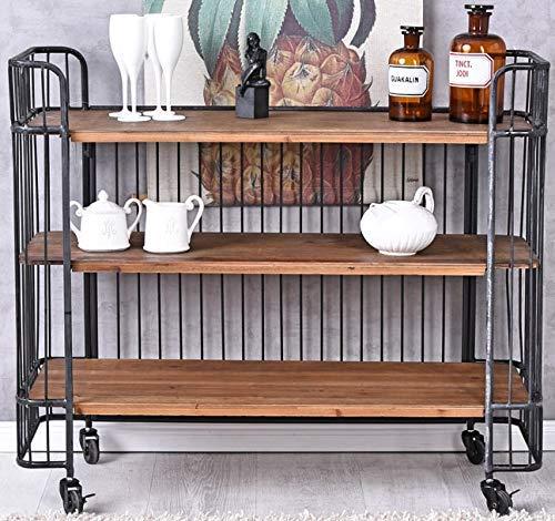 Barwagen Loft Servierwagen Dinett Teewagen Minibar Hausbar Barschrank Weinregal lof013 Palazzo Exklusiv