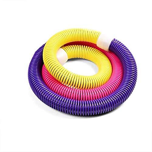 SJZLMB Hula Hoop-Aro de Fitness para Adultos Hula Hoop Bajar de Peso Hacer una Cintura Fina de Ejercicio físico aeróbico El Ejercicio Resorte Incorporado fácil de Llevar Peso: 1.65kg