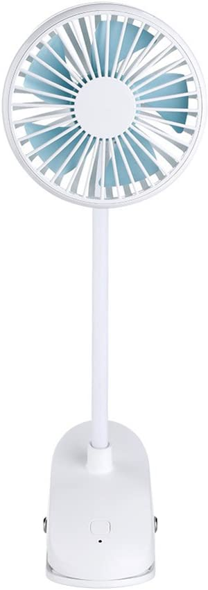 Color : Blue DNXL Mini Fan Creative Mute Portable Stroller USB Charging Fan Applicable for Student Dormitory//Office