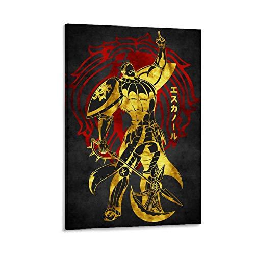 WODETA Escanor Seven Deadly SINS - Lienzo decorativo para pared (30 x 45 cm)