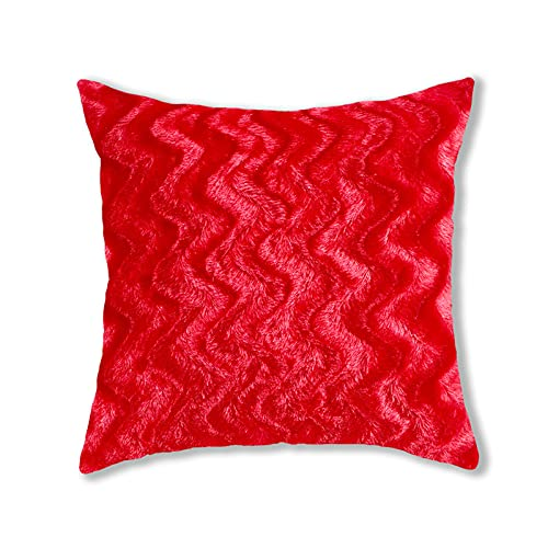 Fundas de almohada de felpa de estilo simple, cuadradas, súper suaves, fundas de cojín para el hogar, decoración creativa para sofá, cama, silla, 43 cm x 43 cm