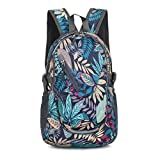 sunhiker Small Cycling Hiking Backpack Water Resistant Travel Backpack Lightweight Daypack M0714 20-25L (Leaf)