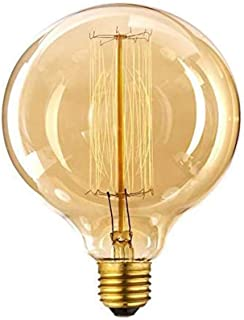 Suszian Bombillas, Vintage Edison Light Bulb 40W Large Globe E27 Bombillas de iluminación Regulables, Certificado CE RoHS, E27