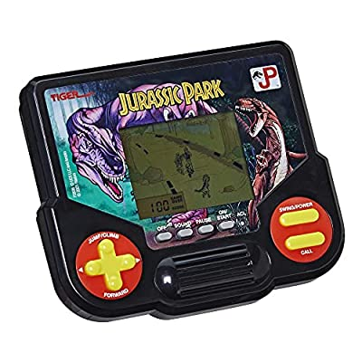 Tiger Electronics Jurassic Park Electronic LCD Video Game, Retro-Inspired 1-Player Handheld Game, Ages 8 and Up from Hasbro