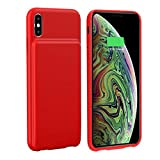HiKiNS Coque Batterie pour iPhone XR, 5000mAh Chargeur Portable Batterie Externe Rechargeable Puissante Power Bank Coque Batterie pour iPhone XR
