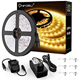Onforu 10M Tira LED Regulable, Blanco Cálido 3000K LED Strip, Kit Cinta Flexible, 24V Franja LED con Regulador de Intensidad,...