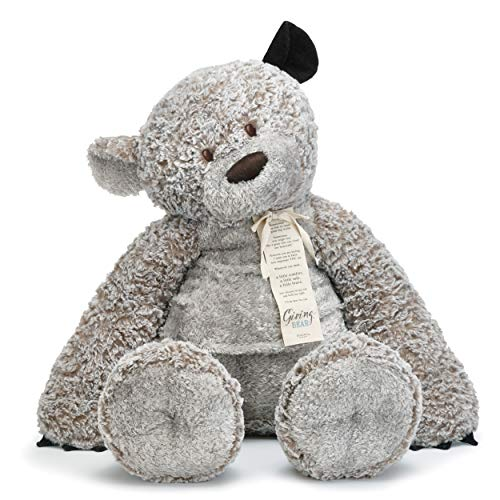 DEMDACO Jumbo 36 inch Giving Bear with Corduroy Ear Children's Plush Stuffed Animal Toy