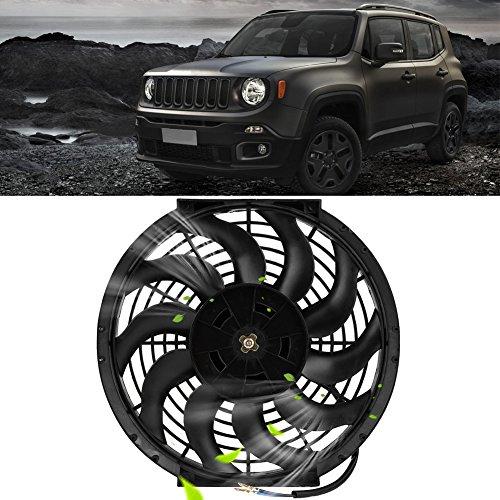 Schwarz Universal 360°12V 80W Ventilator Lüfter für Auto KFZ LKW Zigarettenanzünder Windmaschine 12 Zoll