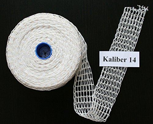 50m Kaliber 14 Bratennetz / Rollbratennetz / Räuchernetz für Einfüllrohr mit einem Durchmesser von ca. 100 bis 110 mm